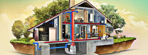 Секреты организации отопления в загородном доме: виды топлива, оборудования, структурных схем