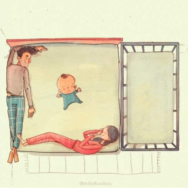 Художник показал, как на самом деле выглядит жизнь с детьми
