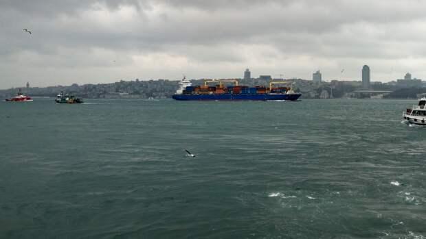 Российский и турецкий сухогрузы могли столкнуться в Босфоре из-за отказа рулевого управления