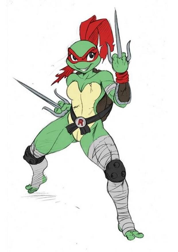 Женская версия Черепашек-ниндзя