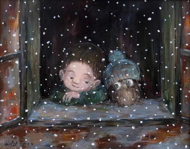 Зимняя сказка Нино Чакветадзе: теплые и добрые картины
