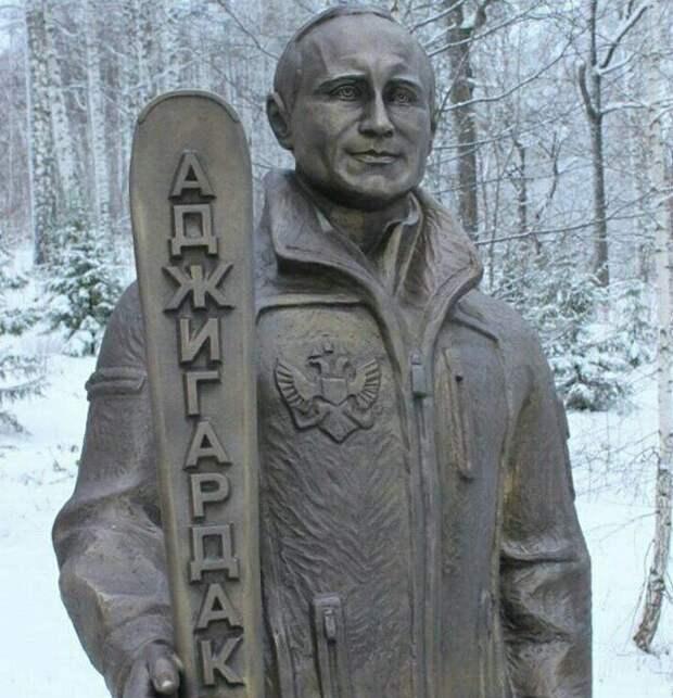 Под Челябинском поставили бронзового Путина