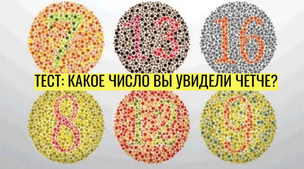 Личностный тест: какое число вы видите более четко?