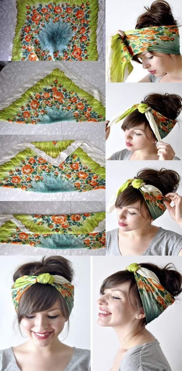 Женственные идеи, как элегантно подвязать волосы платком