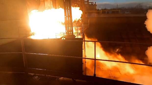 В Сети появились впечатляющие кадры запуска российского космического двигателя