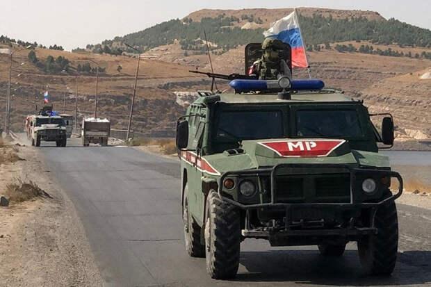 Военная полиция РФ обеспечила безопасное движение по трассе М-4 на севере Сирии