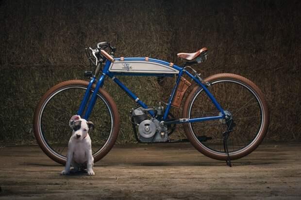 Щенячья любовь - кастомный ретро-мотоцикл Ducati Cucciolo cucciolo, ducati, авто, кастом-байк, кастомайзинг, мото, мотоцикл, ретро техника