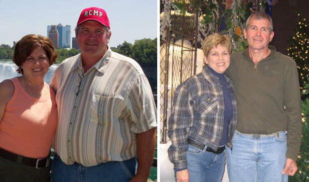 За полтора года - минус 70 кило на двоих! диета, лишний вес, похудение