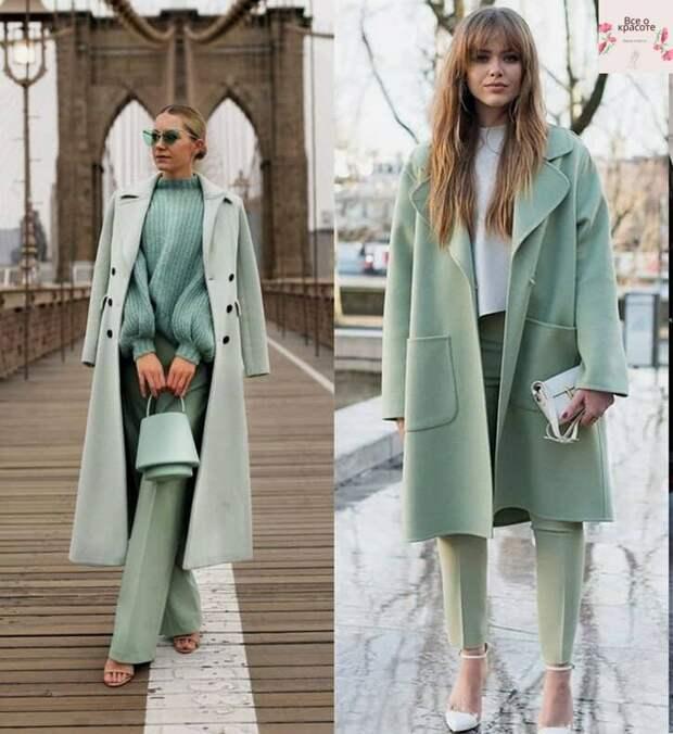 Нежно – мятный в гардеробе прекрасной весны, насколько изящно и стильно выглядит в элементах гардероба: изумительные сочетания