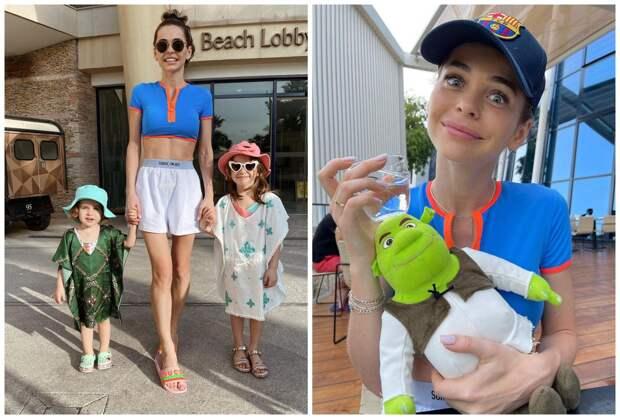 Анна Хилькевич показала, как отдыхает с дочками в Дубае