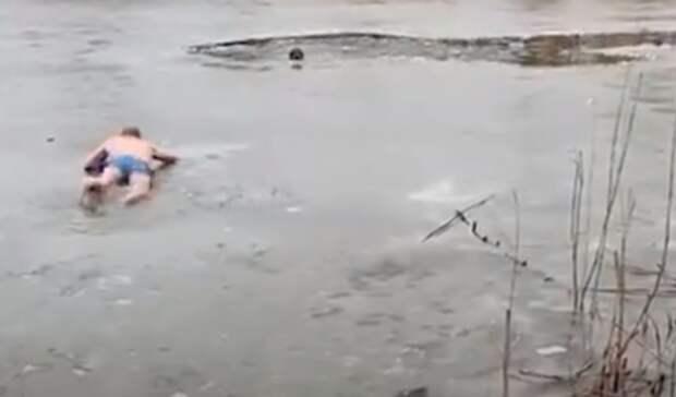 «Как был втрусах, так ипобежал»: житель Волгоградской области спас тонущую собаку