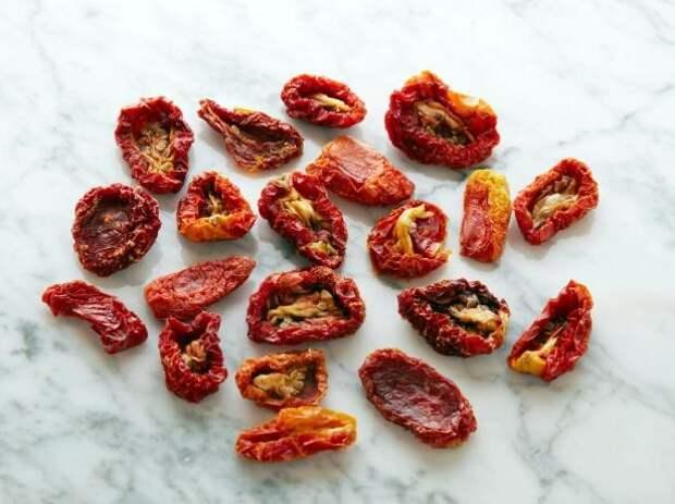 Вяленые помидоры 20 штук = 100 калорий   еда, калории