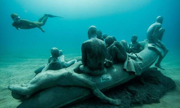Museo Atlantico: захватывающий подводный музей Museo Atlantico, интересно, красота, музей, под водой, подводный музей, статуи, удивительно