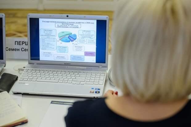 правительство воронежской области, апк, диаграмма, график,ноутбук, компьютер(2019) Фото:пресс-служба правительства Воронежской области