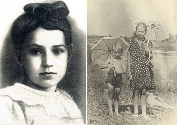 Таня Савичева в 6 лет и в 11 лет (справа) с племянницей Машей Путиловской за несколько дней до начала войны, июнь 1941 | Фото: aif.ru