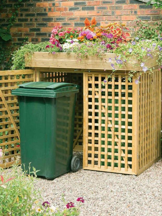Шкаф для мусорных контейнеров. | Фото: CoachDecor.com.