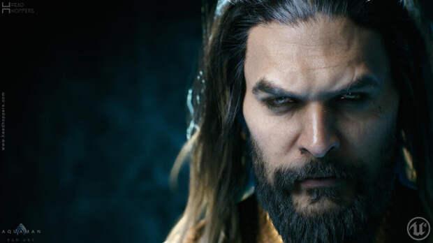 Профессиональные художники показали, как может выглядеть Аквамен на Unreal Engine 4