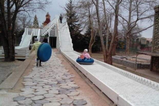 По каким дням будет работать «ледяная» горка в севастопольском «Лукоморье»?