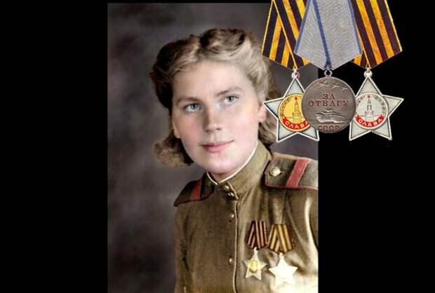 Два ордена Славы и медаль За отвагу Шаниной Розы