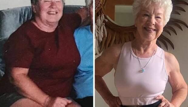 Никогда не поздно: 73-летняя женщина удивительно преобразилась благодаря тренировкам