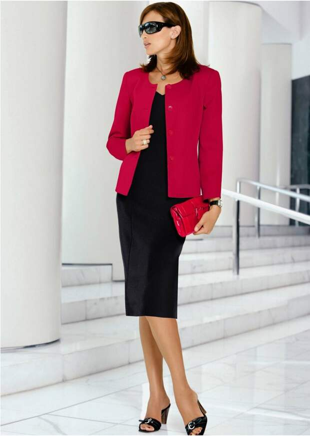 Платье и пиджак – стильное и современное сочетание для женщин любого возраста и телосложения