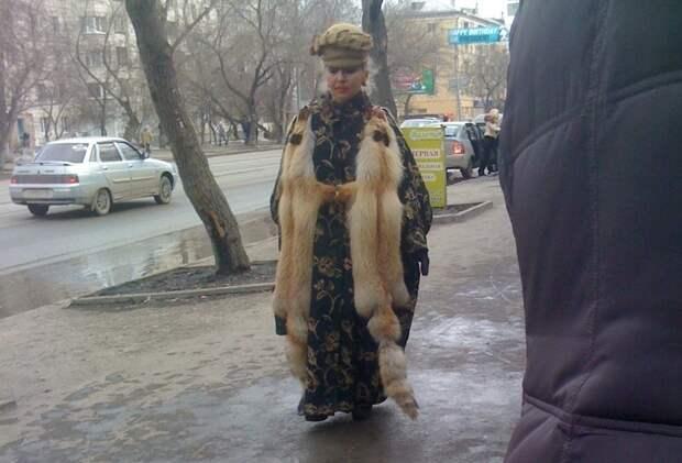 Настоящие модники начали креативить еще задолго до зимних холодов  мода, прикол, юмор