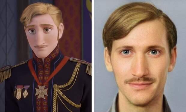 Как выглядели бы герои мультфильмов студии Disney, если бы были реальными людьми
