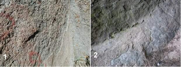 Образование трещин в окаменевших выходах холодных флюидолитов