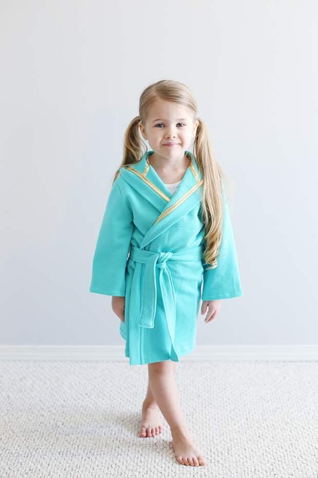 Готовая выкройка детского халата