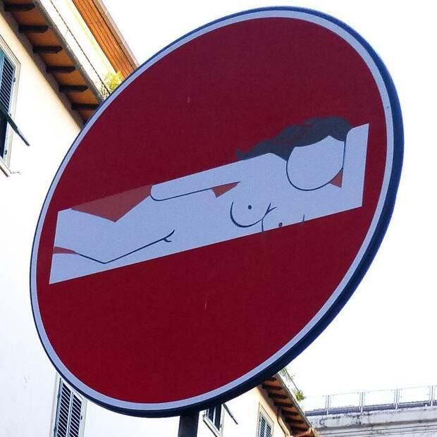 Ну а дальше просто полёт фантазии альтернативные знаки, дорожные знаки, знаки, подборка, прикол, странности