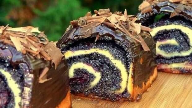 Готовлю вместо пончиков! Пышные булочки с маком и вишнями – невесомое тесто и много начинки
