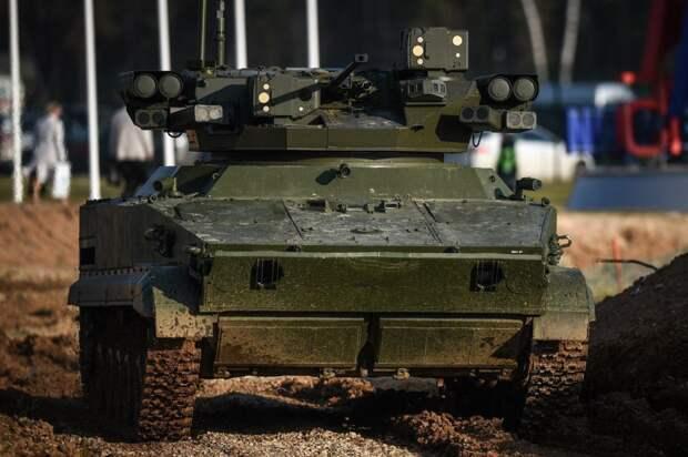 """Робот """"Удар"""" умеет воевать автономно и взаимодействовать с беспилотниками"""