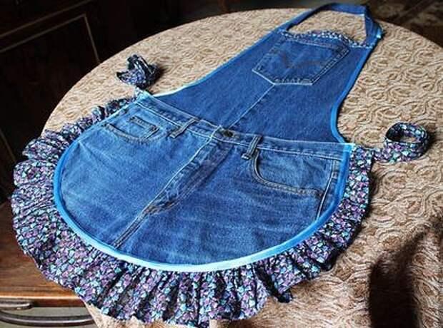 Для творческого вдохновения. Интересные переделки джинсовых вещей.