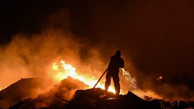 В Казахстане женский монастырь сгорел вместе с обителью