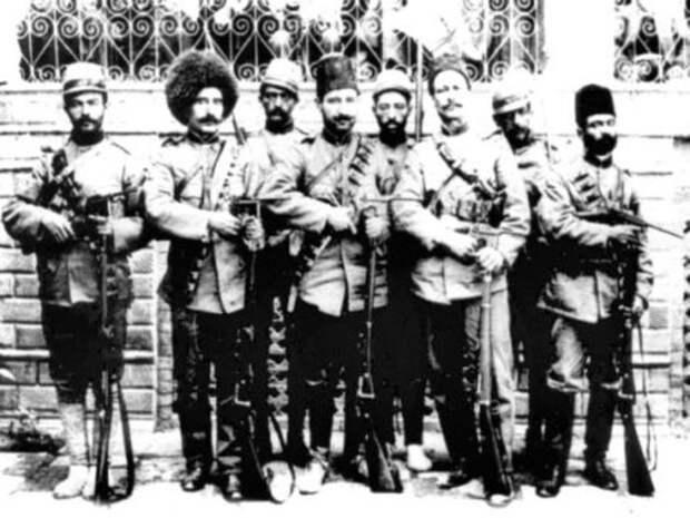 Персидские казаки в 1908