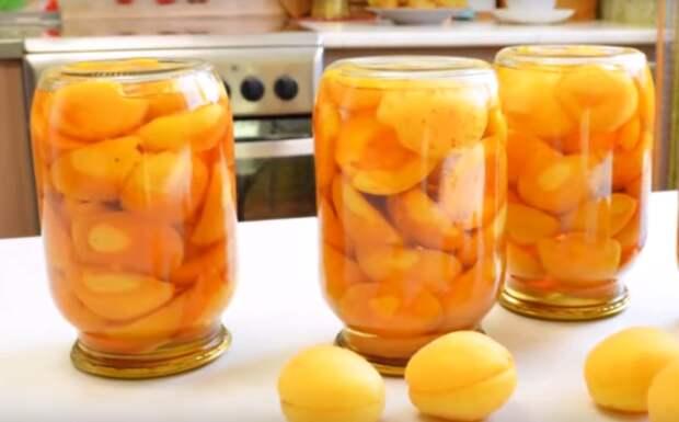 Сочные и сладкие абрикосы в сиропе