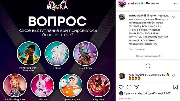 """Зрители назвали лучшие выступления нового эпизода шоу """"Маска"""""""