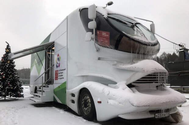 Футуристический грузовик за 66 млн рублей оставили в Подмосковье