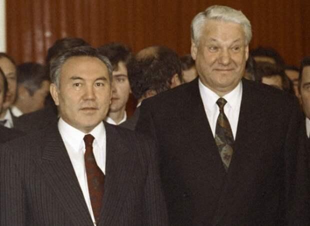 Назарбаев и Ельцин