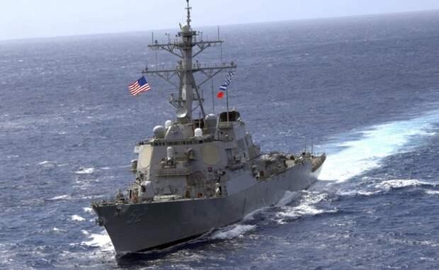Китайские ВМС «выгнали» американский корабль из своих территориальных вод