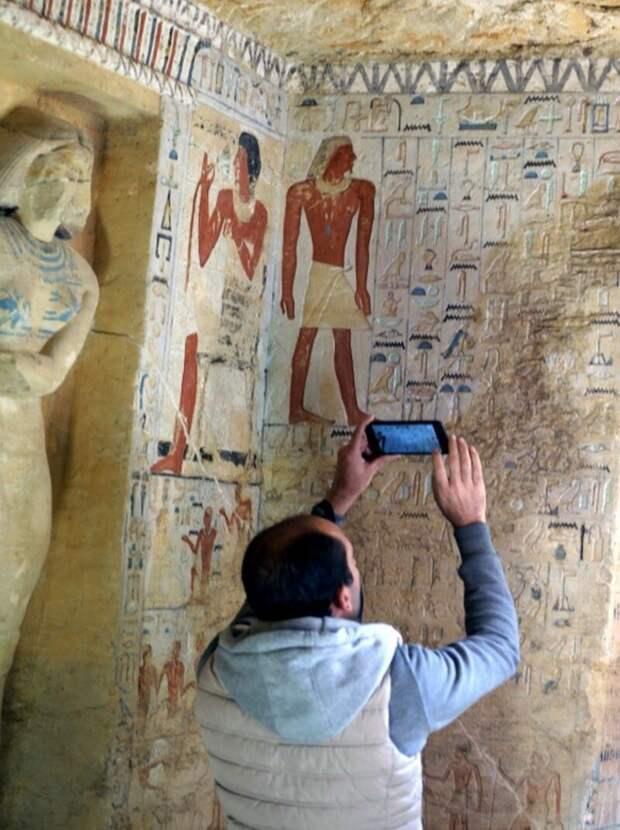 По словам специалистов, краски в гробнице и через 4400 лет удивляют своей сочностью 4400 лет, Египт, в мире, гробница, наука, находка
