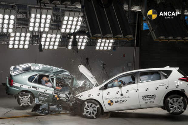 Старая Toyota Corolla против новой: шокирующий краш-тест от ANCAP