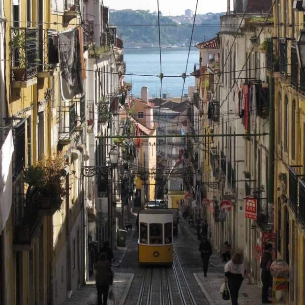 трамвай Португалия Лиссабон