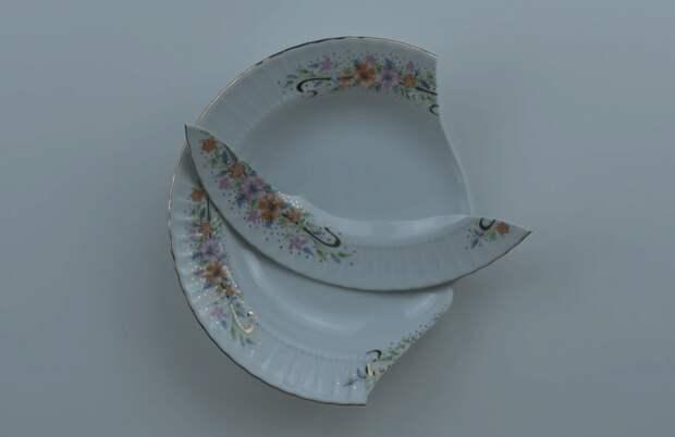 Идея использования разбитой тарелки