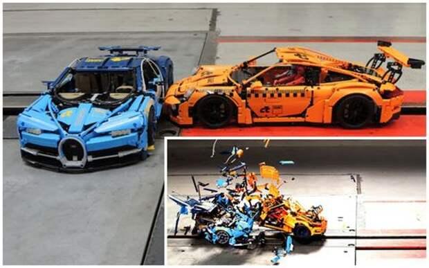 Адское столкновение: разбиты две Lego-машинки