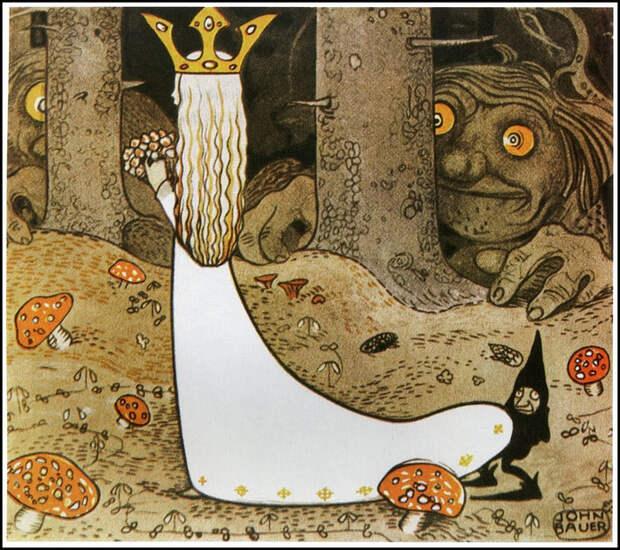 Шведский художник-иллюстратор Йон Бауэр рисунок, художник, иллюстрации, Йон Бауэр, сказка, скандинавские сказки, длиннопост