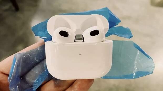 Дизайн новых наушников Apple AirPods 3 рассекретили до презентации