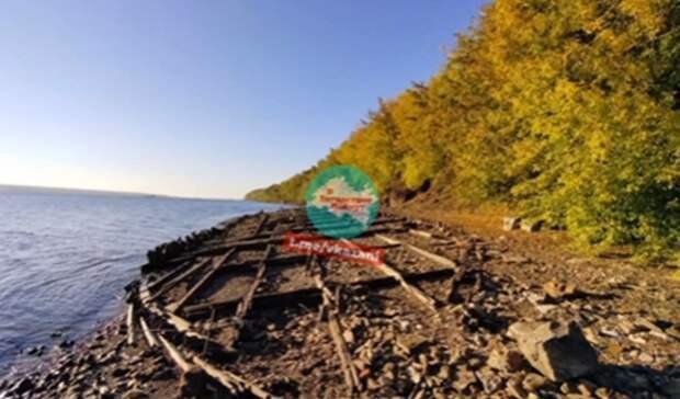Наберегу Волги под Казанью нашли древние корабли