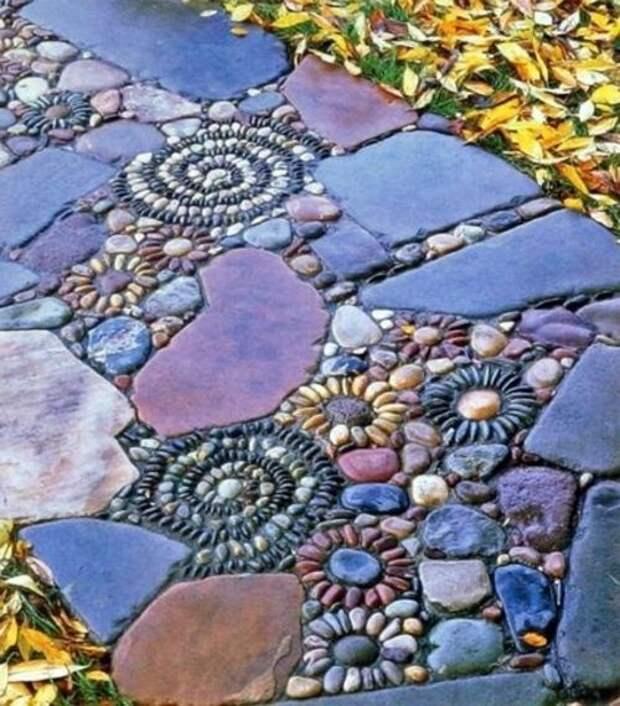 Каменный сад и клумбы из камней (подборка)