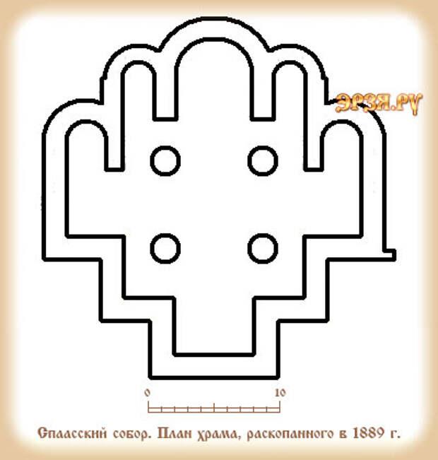 План Спасской церкви в Рязани